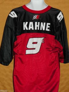 KASEY KAHNE NASCAR Racing #9 Dodge Car Logo Mens LARGE L Red Mesh