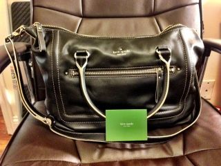 Kate Spade Mott Street Riley Handbag Black Leather