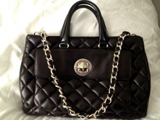 NEW Kate Spade Liberty Street Campbell Black Gold Quilted Leather