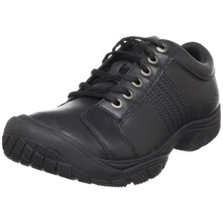 Keen Utility Mens PTC Oxford Leather Non Slip Work Shoes Black