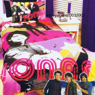 Disney Jonas Brothers Kevin Joe Nick Single Twin Bed Quilt DOONA Duvet