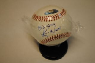 TRISTAR KEVIN NASH SIGNED BASEBALL INSCRIBED BIG SEXY AUTO AUTOGRAPH
