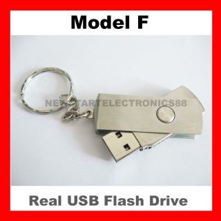 32GB 32G USB Flash Drive Memory Pen Key Stick Swivel Metal Keyring