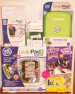 NEW Leap Frog LeapPad Explorer 2 Kidz Bop Bundle with Headphones Gel