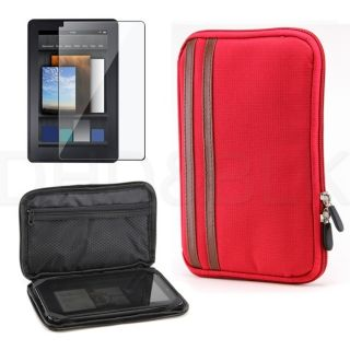 New Red Zip Lock Protective Carrying Pouch Case for Kindle Fire Screen