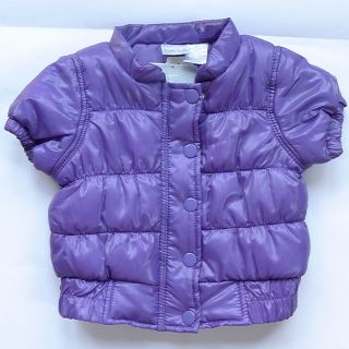 Koala Kids Puffy Vest Baby Girl Short Sleeve