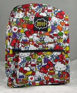Hello Kitty BRIGHT COLOR Food BACKPACK Back Pack School Travel Book