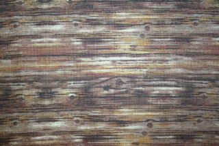 Naturals Realistic Looking Brown Wood Grain Landscape Fabric