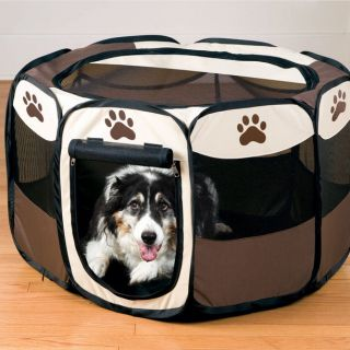 Large Portable Pet Dog Puppy Cat Playpen Folding Easy Storage