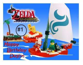 Lego Zelda Edible Cake Cupcake Cookie Toppers