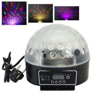LED RGB Disco Crystal Magic Ball Effect Light DJ Stage Light Dream