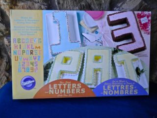 Never Used Wilton Letters and Numbers Cake Pan Set