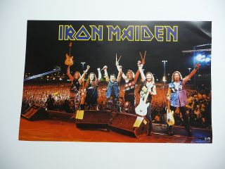 IRON MAIDEN Rock In Rio release Promo 11 x 17 Poster live shot of the