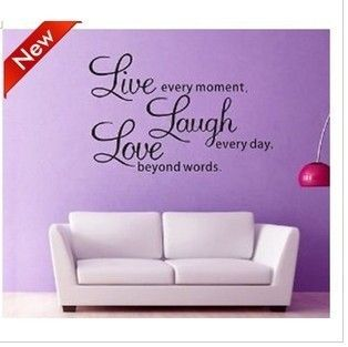 Home Decor Decal Wall Sticker Wall Quote Decals Live Laugh Love