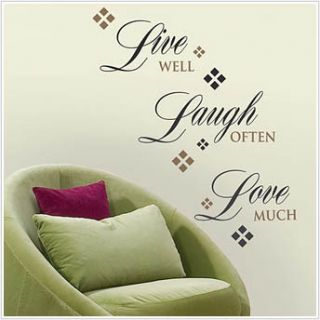 Live Laugh Love Wall Sticker Quote Vinyl Decals Words