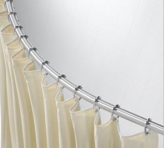 Crescent Curved Shower Curtain Rod Bar Stainless Steel