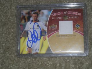 David Beckham Los Angeles Galaxy Hand Autographed Game Used Jersey