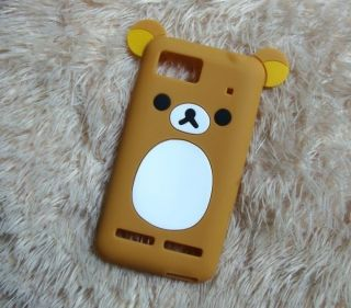 Lovely Cute Teddy Bear Silicone Soft Cover Case for Motorola Motoluxe