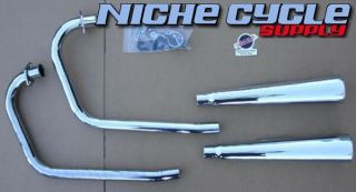 Honda CB360 Twin 2 2 Chrome Mac Exhaust System CB 360 001 0233