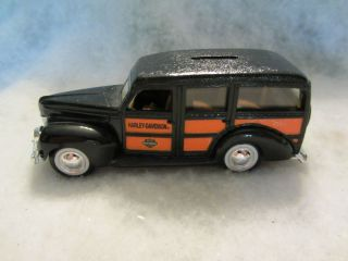Davidson Limited Edition 1940 Ford Woody Station Wagon Dime Bank w 10