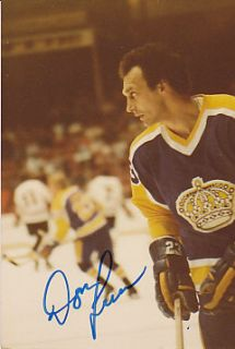 Don Luce Los Angeles Kings Auto Signed 3x5