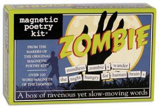 Refrigerator Magnets Magnetic Poetry Kit Zombie 3119