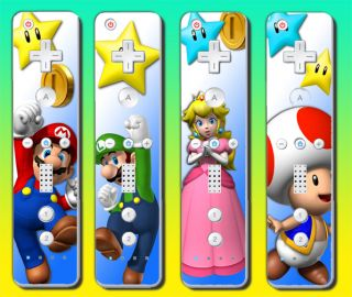 Skin Kit 4 Pack Super Mario Bros 2 Brothers Mario Galaxy Vinyl
