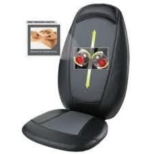 Homedics Massaging Shiatsu With Heat Chair Cushion Seat Back Pain
