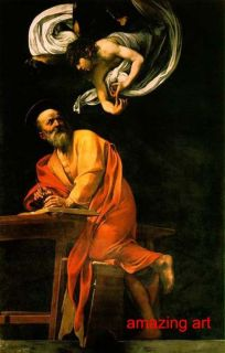 Religious Oil Painting The Inspiration of Saint Matthew