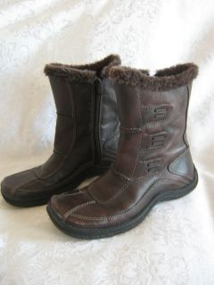 ALDO *Beyonce* 36 6M Brown Leather Winter Snow BOOTS Faux Fur Lined