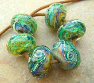 Lampwork Italian Murano Glass Boro Set Beads Enchanted Meadow