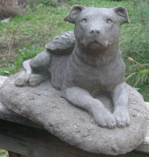 Pit Bull Terrier Angel Dog Memorial Statue