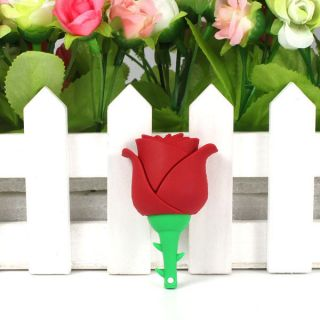 Beautiful Red Rose Style 16GB Memory Stick USB Flash Drive Gift