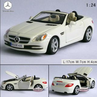 New Mercedes Benz SLK Class Open 1 24 Alloy Diecast Model Car White