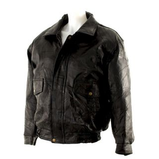 Mens Stylish Leather Bomber Jacket Fully Lined 2X 3X 4X 5X O