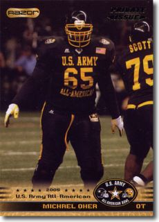 12 Michael Oher 2010 US Army All American Bowl Lot