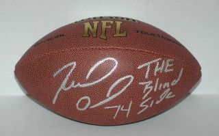 Michael Oher signed NFL Compsite leather football Wilson The Blind