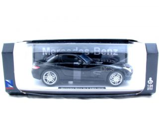 New Ray 2010 Mercedes Benz SLS AMG Black 1 24 Diecast Car