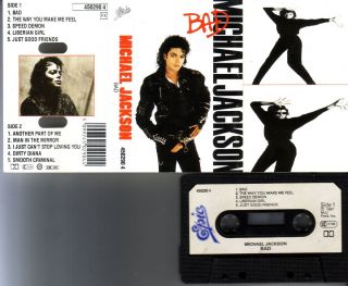 Michael Jackson Bad RARE Original 1987 Soundtrack Cassette Album