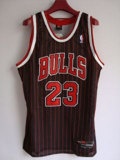 Nike Michael Jordan Chicago Bulls Jersey Black Red NBA Patch Lmed 48