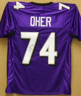Michael Oher Autographed Purple Baltimore Ravens Jersey