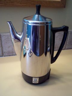 Vintage PRESTO Stainless Steel Electric COFFEE MAKER #0281104