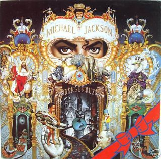Michael Jackson Dangerous U K Cardboard Display V 1
