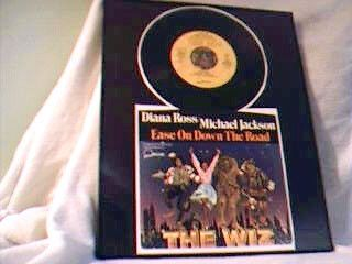 MICHAEL JACKSON/ DIANA ROSS RECORD FRAMED EASE ON DOWN THE ROAD THE