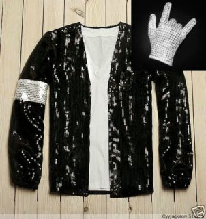 Michael Jackson MJ Crystal Billie Jean Jacket Glove