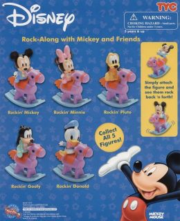 New Disney Mini Baby Mickey Mouse Rock Along Cake Topper Figures You