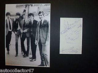 The ROLLING STONES signed AUTOGRAPHS display Mick Jagger Keith