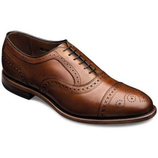 Allen Edmonds Mens Strand Walnut Burnished Calf Shoe Size 10 D