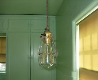 Newly listed ORIGINAL VINTAGE MACHINE AGE INDUSTRIAL CAGE LIGHT LAMP