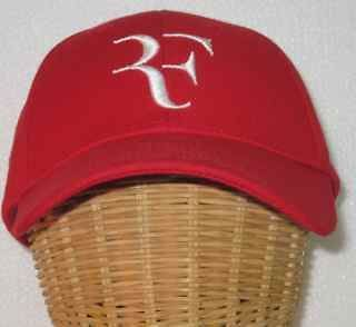 Authentic Nike Roger Federer Foundation Red RF Cap Rare * NEW *